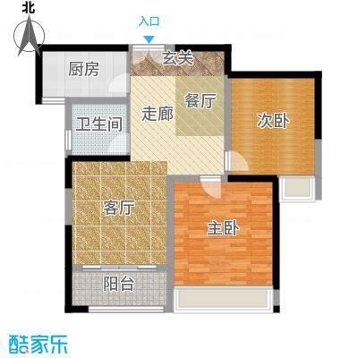 晓庄国际广场86.00㎡一期2、3栋标准层C户型