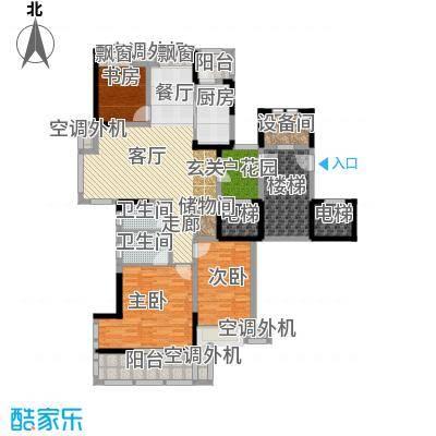 润开华府123.47㎡一期4号楼标准层A户型