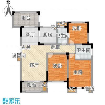 荣尚花苑130.00㎡13#标准层B户型