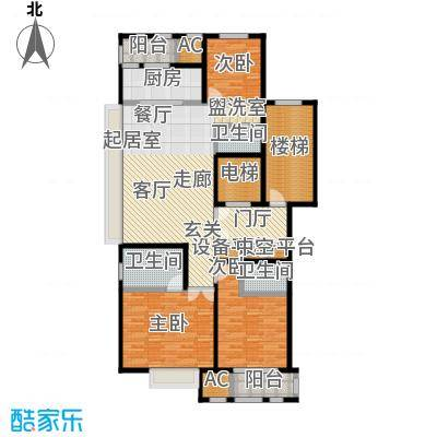 华润置地橡树湾140.00㎡LUX公寓6#高层标准层D户型