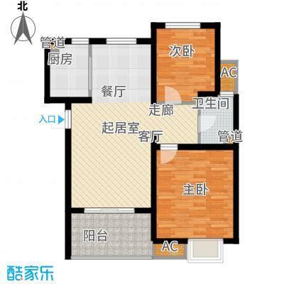 锦盛苑77.69㎡一期3#楼标准层h40户型