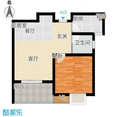 锦盛苑63.26㎡一期3#楼标准层h30户型