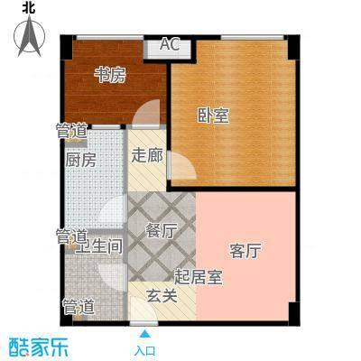 金轮星光名座59.00㎡酒店式公寓C1户型