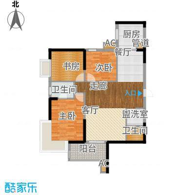 明发滨江新城114.00㎡三期G19户型