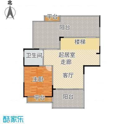 惠泽云锦城106.00㎡复式跃层户型