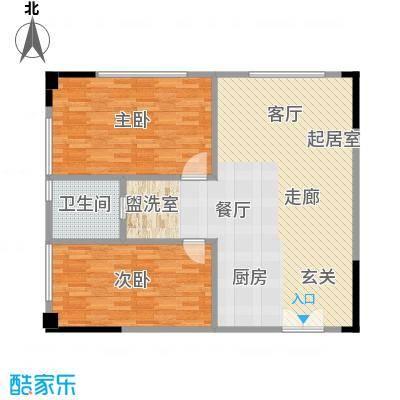 晋合公寓104.00㎡3#标准层A户型