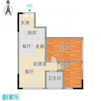 晋合公寓90.00㎡3#标准层E户型