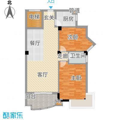 明发滨江新城88.52㎡户型
