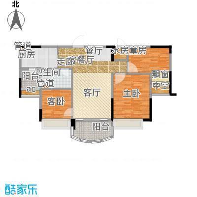 碧桂园城市花园88.00㎡二期星荟组团花园洋房473B户型