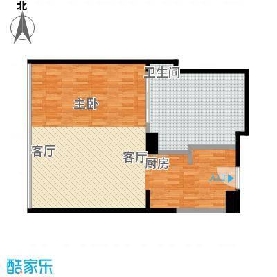 雨润国际广场83.00㎡一期洲际行政公寓标准层A2户型