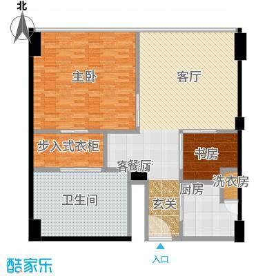 雨润国际广场124.00㎡一期洲际行政公寓标准层B2户型