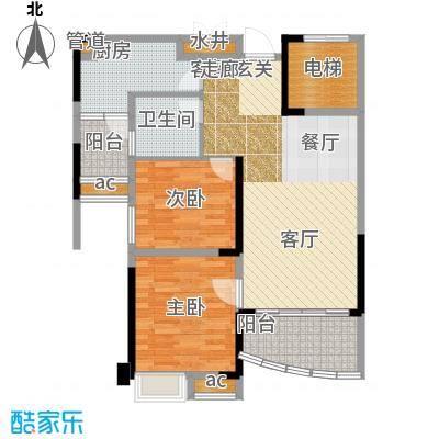 碧桂园城市花园82.33㎡二期星荟组团花园洋房475B户型