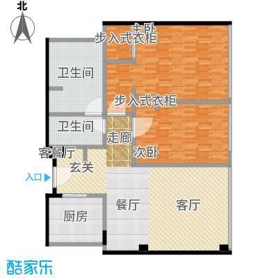 雨润国际广场143.00㎡一期洲际行政公寓标准层B5-1户型