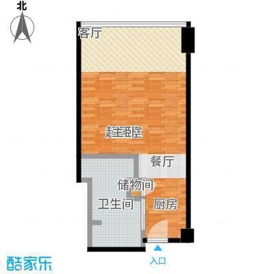 雨润国际广场55.00㎡一期洲际行政公寓标准层A1-A户型