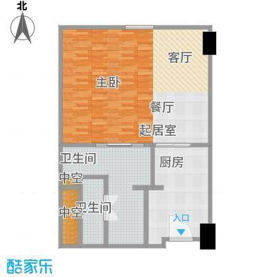 雨润国际广场90.00㎡一期洲际行政公寓标准层A3户型