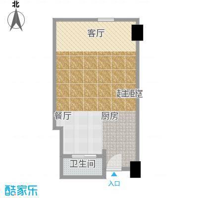 雨润国际广场60.00㎡一期洲际行政公寓标准层A1-1a户型
