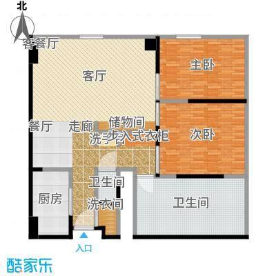 雨润国际广场139.00㎡一期洲际行政公寓标准层B1-1户型