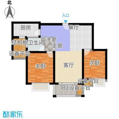 红鼎湾花园89.00㎡高层8#、9#楼标准层F户型