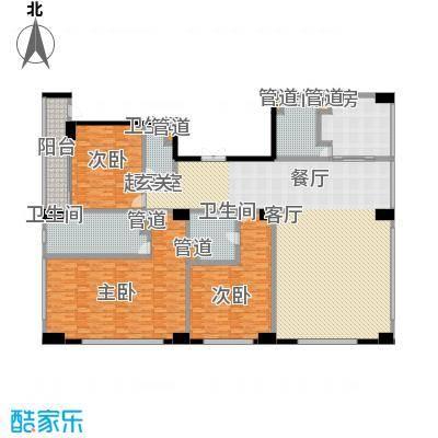 中城国际广场283.00㎡一期1-4幢标准层G1户型