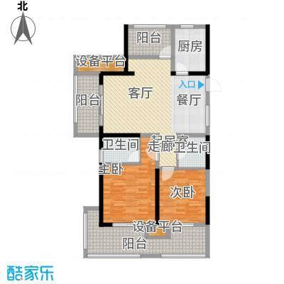 新湖明珠城108.00㎡五期聆湖苑标准层14#B奇数层户型