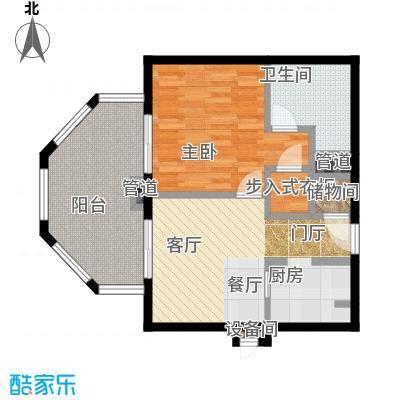 国信龙沐湾77.04㎡A3户型