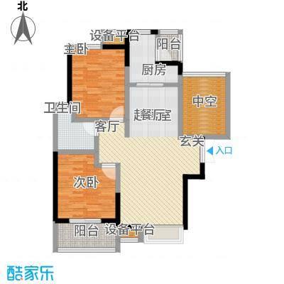 富力十号93.00㎡二期52栋E(2013320)户型