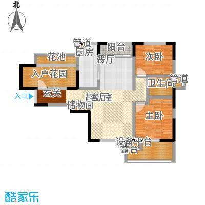 富力十号104.00㎡一期40-46号楼标准层II01户型
