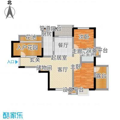 富力十号102.00㎡一期40-46号楼标准层III01户型