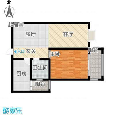 北宸新苑91.00㎡二期7、9、11号楼标准层B户型