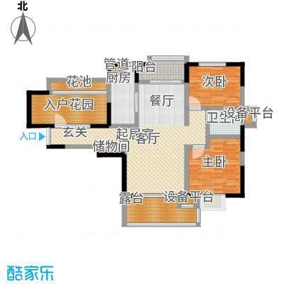 富力十号102.00㎡一期40-46号楼标准层I01户型