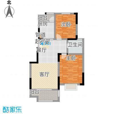 北宸新苑88.00㎡二期7、9、11号楼标准层D2户型