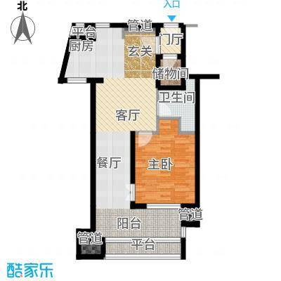 国信龙沐湾66.06㎡B2户型