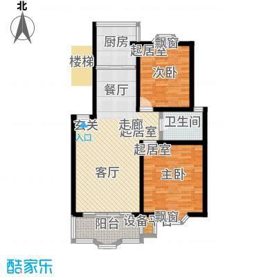 宏泰雅苑87.00㎡二期8、11号楼标准层E户型