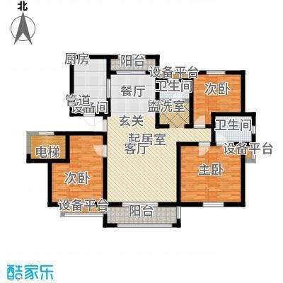 金地华城130.00㎡三期58、62、66号楼标准层E户型