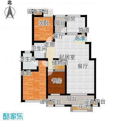 东方曼园118.00㎡一期1-3、6、10、12、13号楼标准层A户型