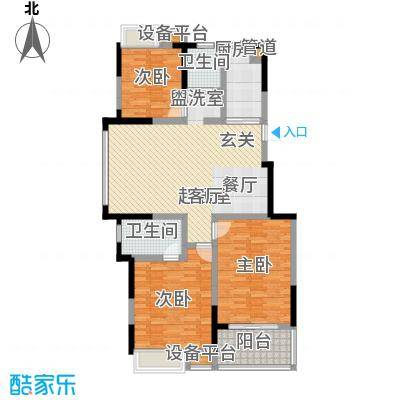 奕淳绿园115.00㎡一期3、6-8号楼标准层A户型