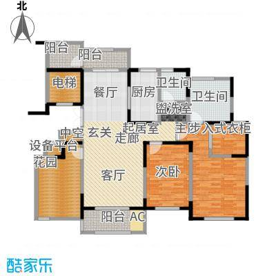 中茵星墅湾135.00㎡二期6#楼标准层B户型