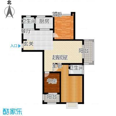 北宸新苑128.00㎡二期7、9、11号楼标准层A1户型