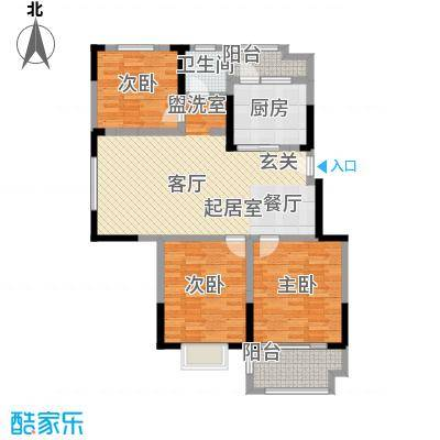 北宸新苑105.00㎡二期7、9、11号楼标准层D1户型