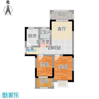 北宸新苑68.27㎡二期7、9、11号楼标准层E户型