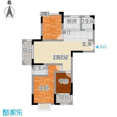 北宸新苑89.00㎡二期7、9、11号楼标准层C2户型