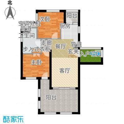国信龙沐湾89.83㎡B3户型