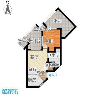 国信龙沐湾66.44㎡A1户型
