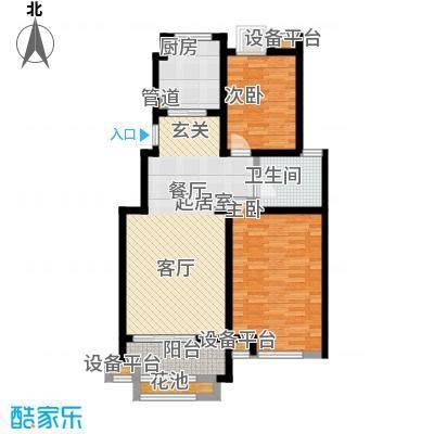 东方曼园95.00㎡一期5-10、12、13、17号楼标准层B户型
