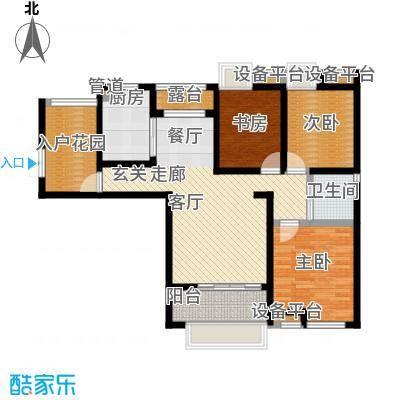 东方曼园118.00㎡一期1-3、12号楼标准层K户型