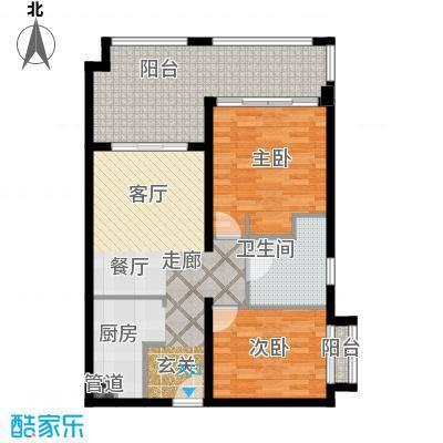 国信龙沐湾94.75㎡A2户型