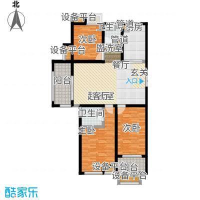 东方曼园116.00㎡一期1-3、12号楼标准层J户型