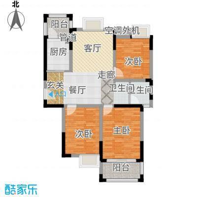 龙海骏景89.02㎡一期C12户型