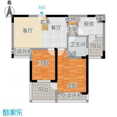 骋望七里楠花园83.00㎡一期3、11号楼标准层B户型