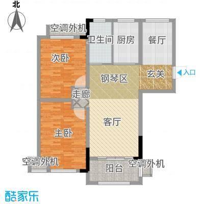 天淳江南106.00㎡一期1、3、5、7、8号楼标准层A2-2-11户型